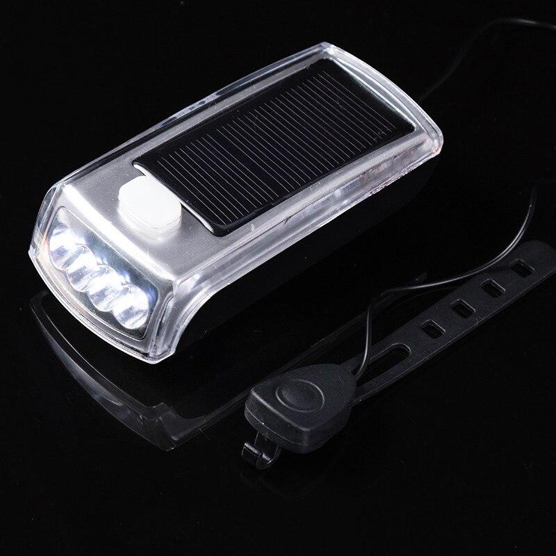 1Set Cycling Bike Head Front Light Bicycle Light  Charge The New 4 LED Bike Solar Headlamp + Speaker #3 head струна head lynx set