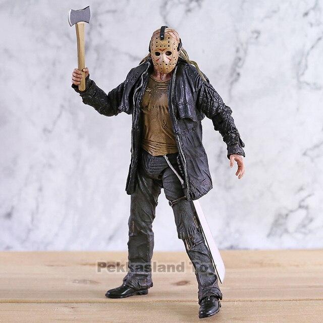 2009 Deluxe Edition NECA Şekil Cuma 13th Jason Voorhees Action Figure PVC Korku Koleksiyon Model Oyuncak