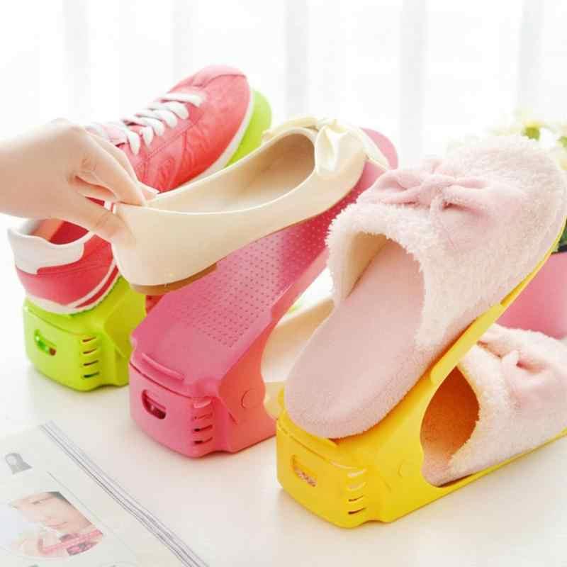 Органайзер для обуви, чистящая обувь, современный двухслойный шкаф стенд для хранения обуви, Обувной Ящик, чистящая подставка, полка