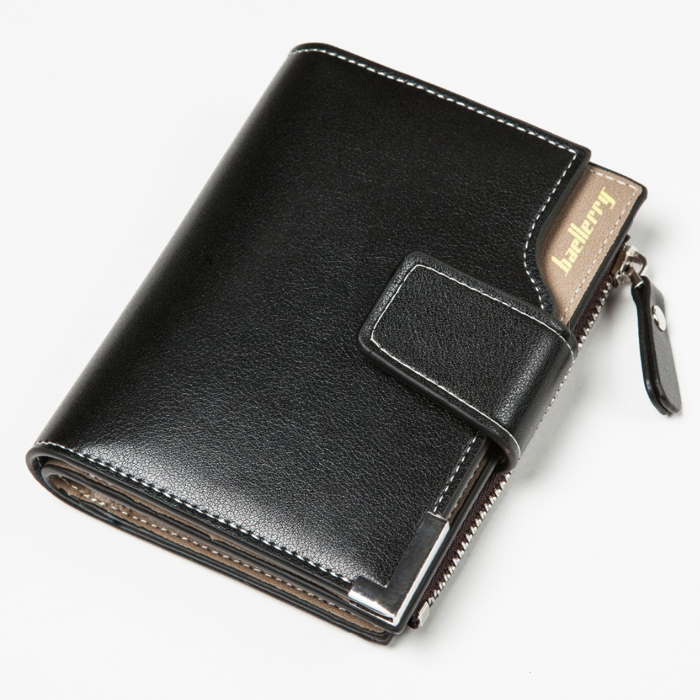 Baellerry Newest Blue! Short Men Wallets PU+Genuine Leather Wallet Men Clutch Bag Coin Purse Card Holder Zipper Hasp Male Wallet baellerry man wallets portefeuille homme card holder coin pocket cuzdan rfid male cuzdan purse clutch short purse with 6 styles