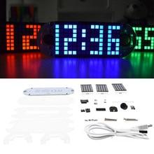 DS3231 Digital LED Dot Matrix Alarm Clock Kit Touch Key Precision Matrix  diy electronic kit