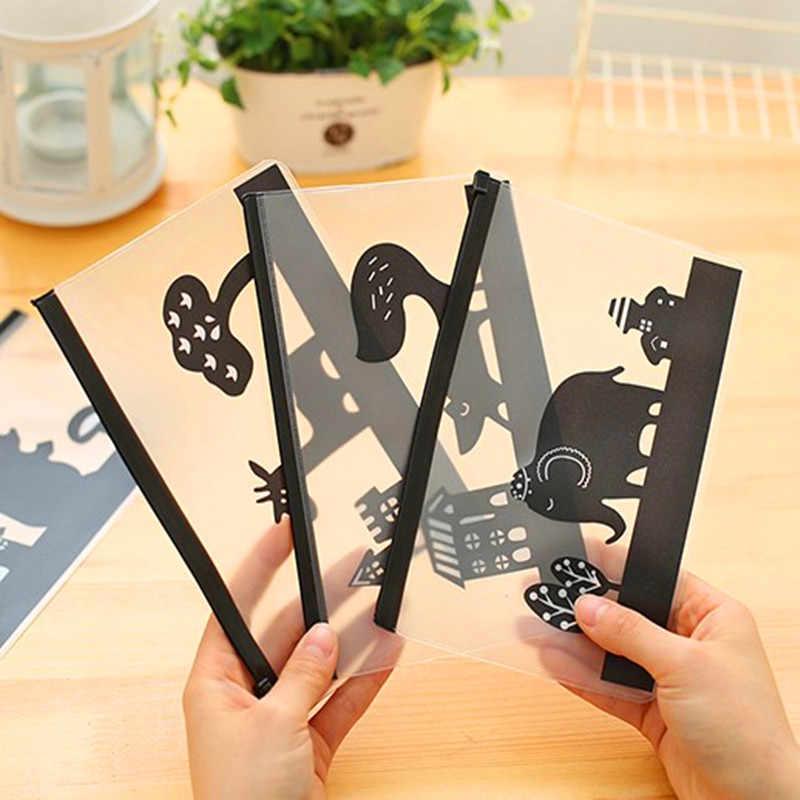 Mới Hàn Quốc văn phòng phẩm đáng yêu dễ thương sáng tạo Edge NHỰA PVC Bao nhận túi gà mờ thư mục con voi