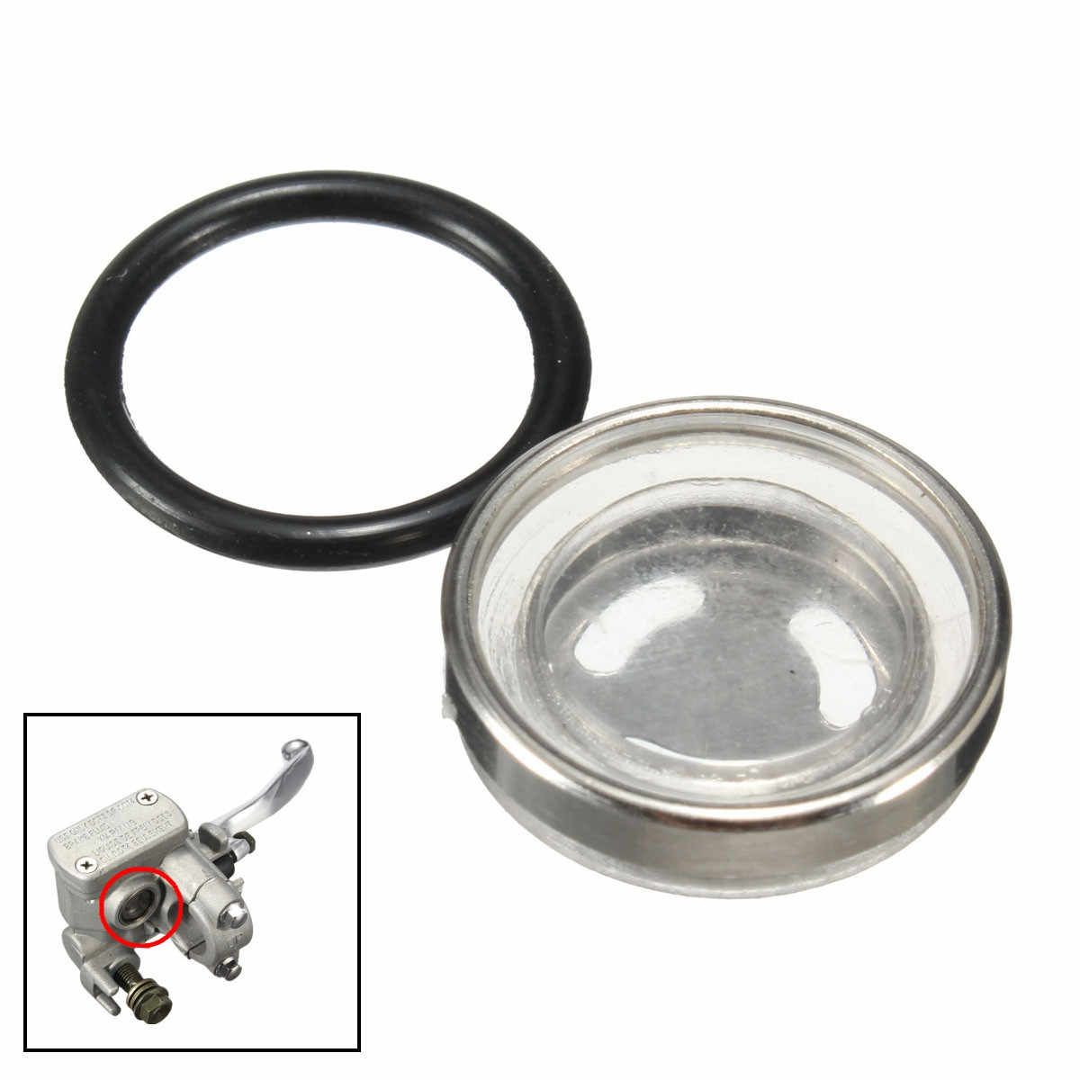 18 Mm Master Rem Silinder Reservoir Sight Glass Motor Dirt Bike Gasket