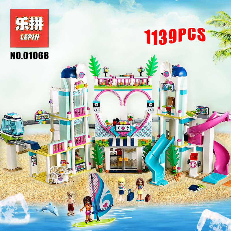 Lepin 01068 Friends the Heartlake City Resort Model Set 41347 Building Blocks Bricks Legoinglys Friends for Girl Children Toys 50pcs starwars superhero building the roman soldiers blocks bricks friends for girl boy jenga house games children toys