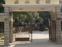 Copper Powder Coat Wrought Iron Gate