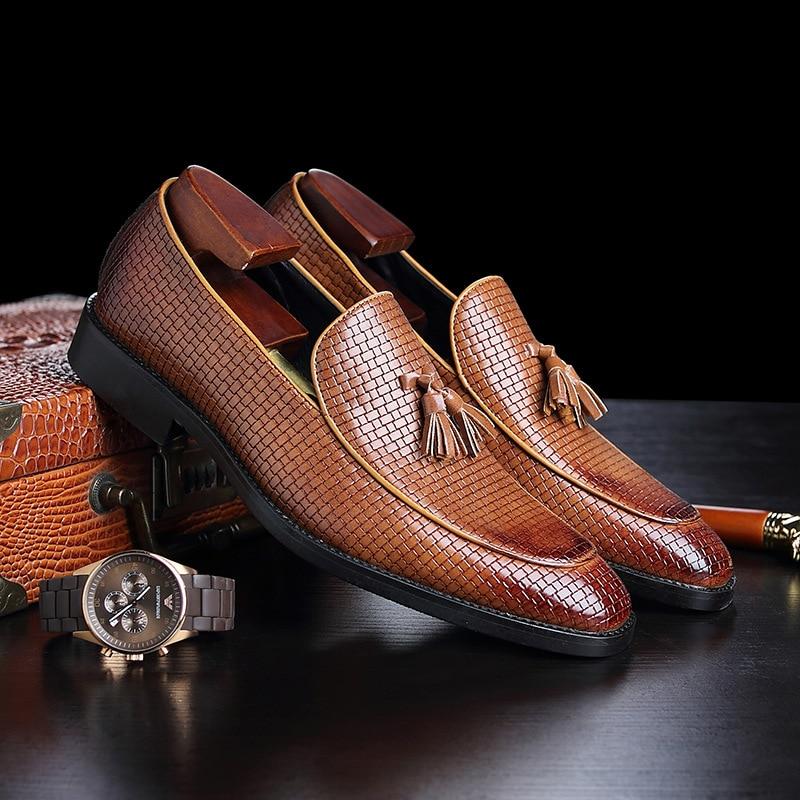 Нов мъж парти Облечи обувки Крокодил - Мъжки обувки - Снимка 3