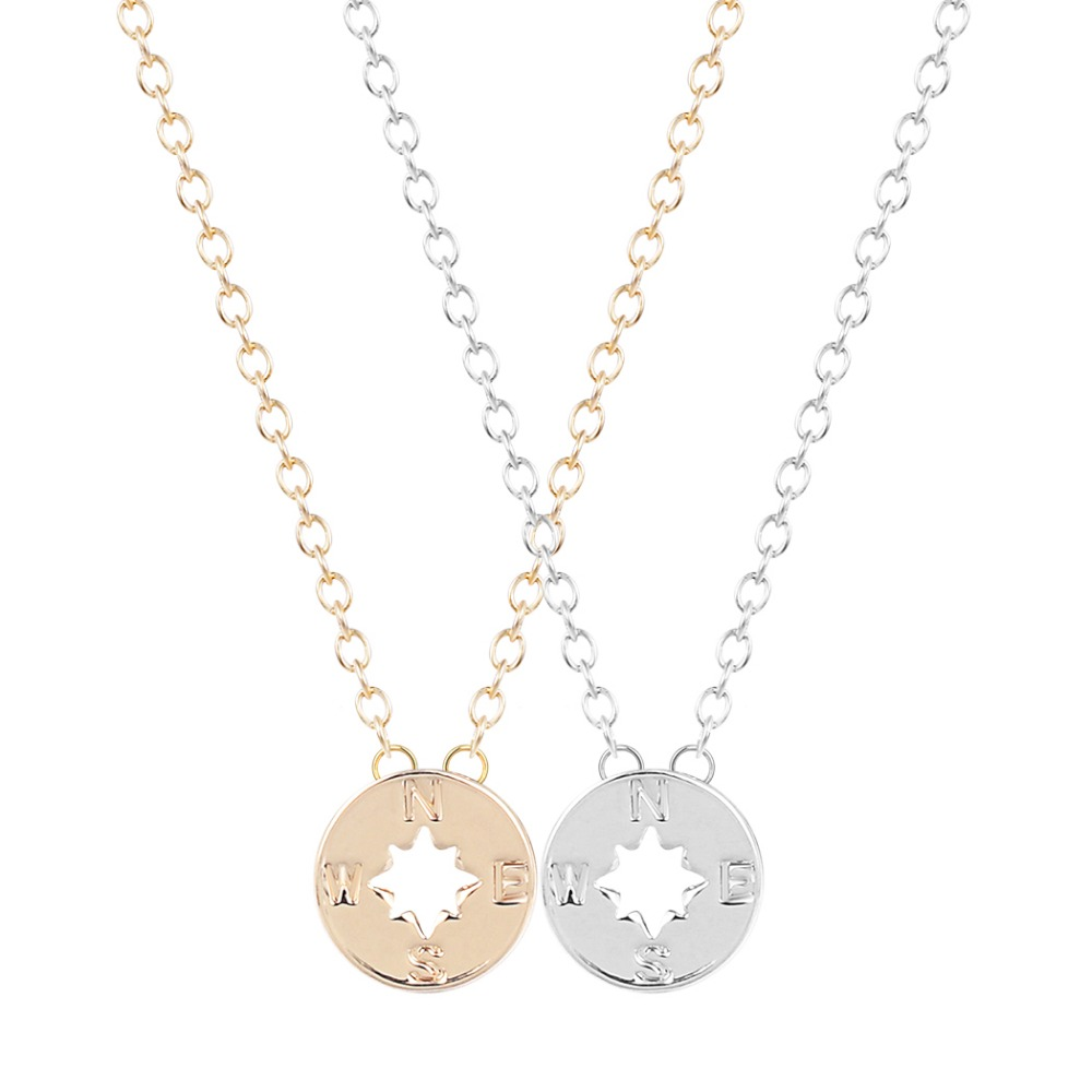 compass gold metallic outfitters product in urban lyst jewelry necklace gallery