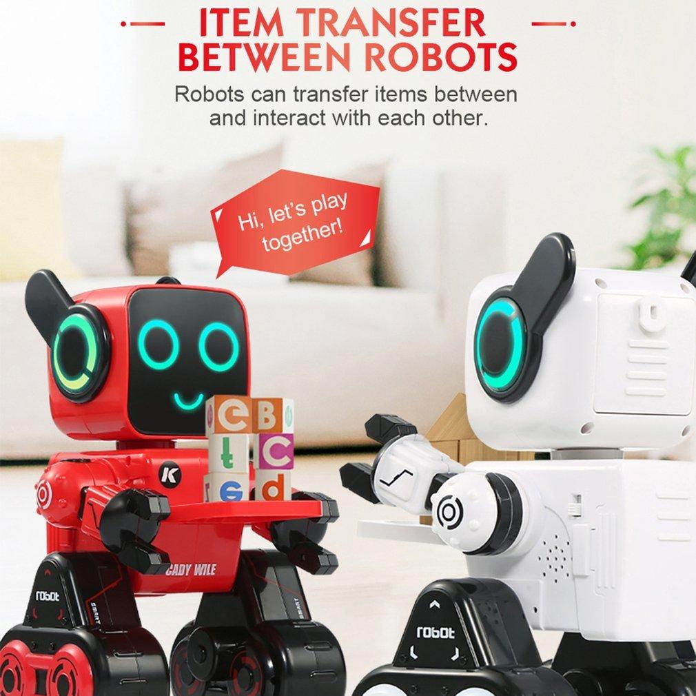 Rc-roboter Fernbedienung Spielzeug Jjr/c R4 Roboter 2,4g Geld Management Sound Interaktion Geste Sensor Control Robot Geburtstag/weihnachten Geschenk Roboter Phantasie Farben