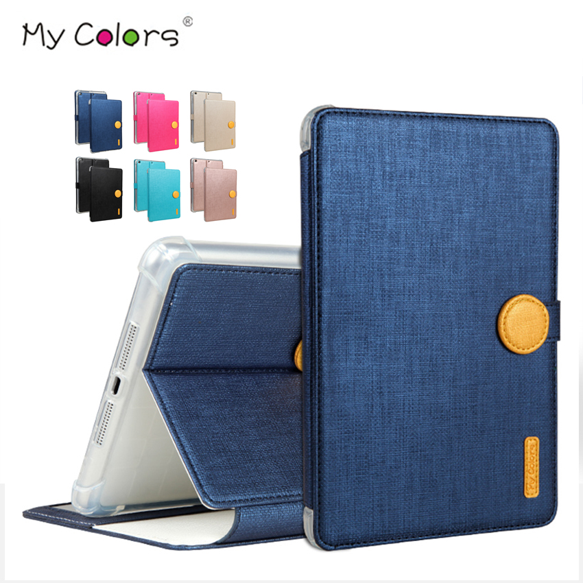 все цены на For iPad mini 1 2 3 PU Leather Case Cover Slim Wallet Protective Stand Sleeve for iPad mini2 mini3 7.9'' Tablet PC Smart Fundas онлайн
