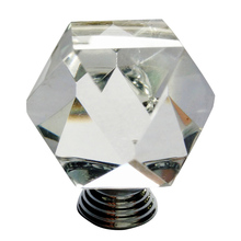 Sale of the new box shaped crystal drawer cabinet handle glass bathroom door handle to map to support