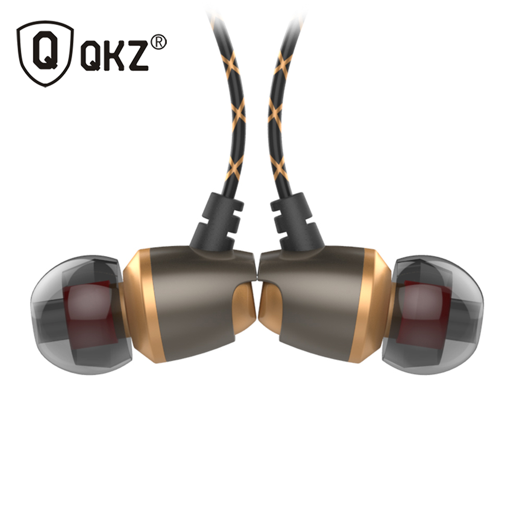 Earphone QKZ DM11 Magnetic in-Ear Earphone Noise Cancelling Headsets DJ In Ear Earphones HiFi Ear Phone Stereo BASS Metal fashion professional in ear earphones light blue black 3 5mm plug 120cm cable