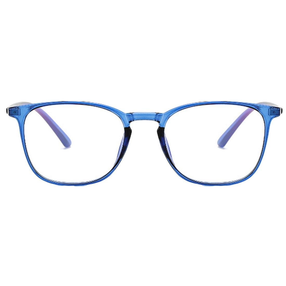 Blue Light Glasses Frame Men Ultralight Square Myopia Prescription Eyeglasses Metal Full Optical Frame Screwless Eyewear in Men 39 s Eyewear Frames from Apparel Accessories