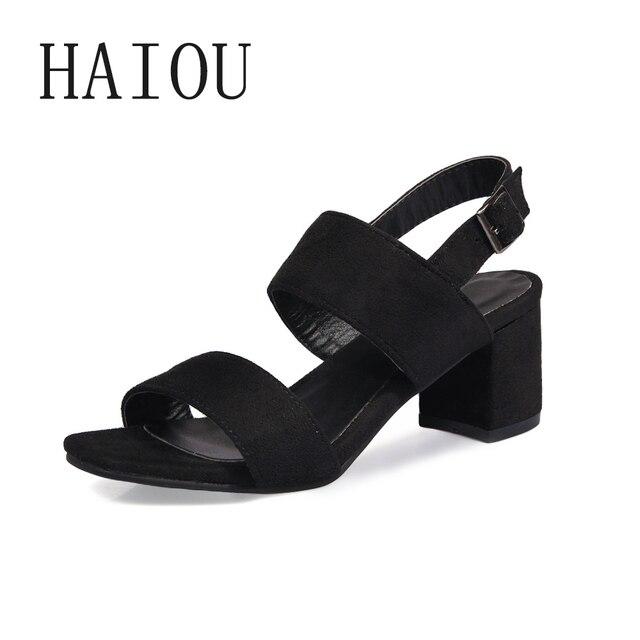 868d5e609c6a New Fashion Summer Sandals Women Medium Heel Shoes Heels Platform Sandals  Women Fashion Peep Toe Ladies Shoes Leather Sandals