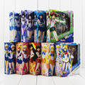 Color box 9Style sexy Sailor Moon Figure Toy Tsukino Usagi Mars Jupiter Venus Mercury Uranus Pluto SHFguart with box