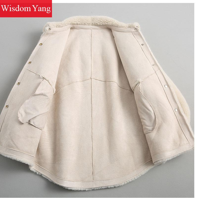 Beige De Coat Manteau Mouton Pardessus Femmes Tops Manteaux Laine Survêtement Vestes Oversize Mode Chaud 2018 Hiver Courtes EWxX6qHnac