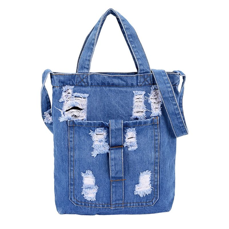 Street Style Canvas Shoulder Bag Jean Tote HandBag Moussy Crossbody Messenger Bags Large Capacity Gifts For Women A69C