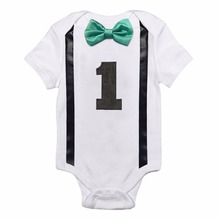 First Birthday Romper Outfit for Baby Boy