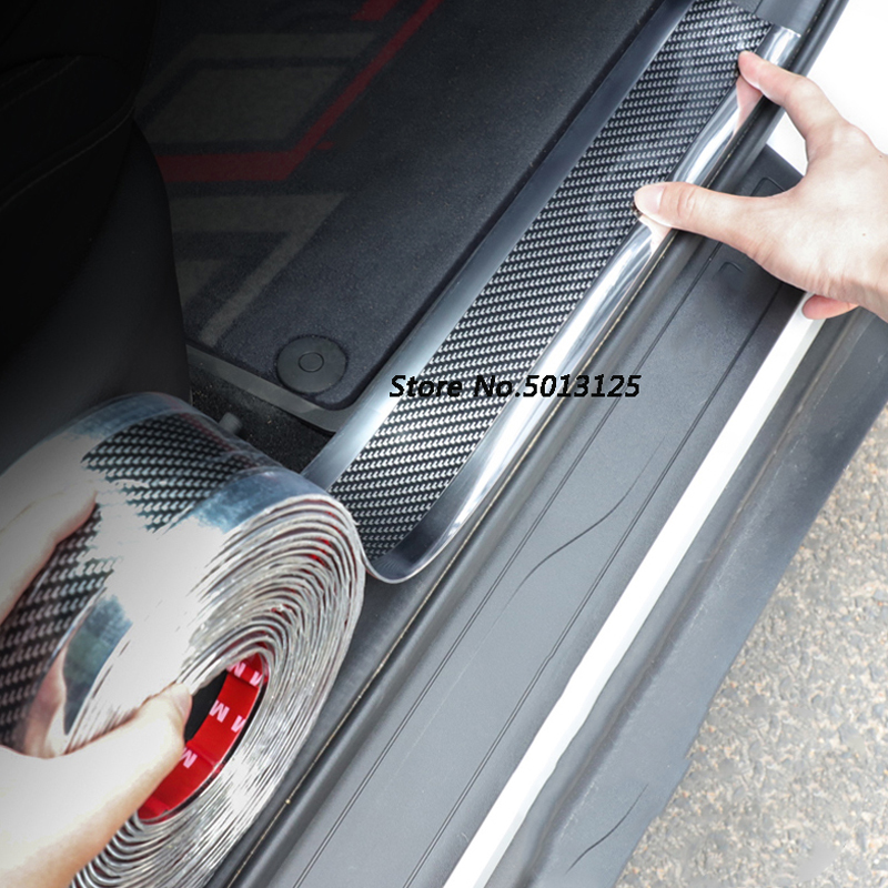 For <font><b>Suzuki</b></font> <font><b>Sx4</b></font> S-cross 2018 <font><b>2019</b></font> Accessories Car Door Guard Bumper Carbon Fiber Rubber Styling Door Sill Protector Car Stylings image