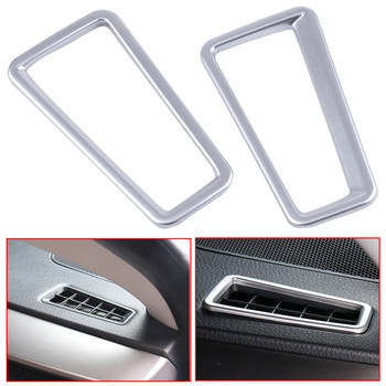 DWCX ABS Chrome Car Interior Front Dashboard Air Vent Outlet Trim Cover Fit for Toyota RAV4 2013 2014 2015 2016 2017 2018 image