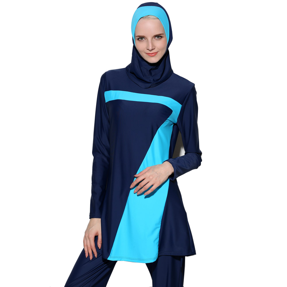 Aliexpresscom  Buy 2018 New 2 Piece Muslim Swimwear 2 -7890