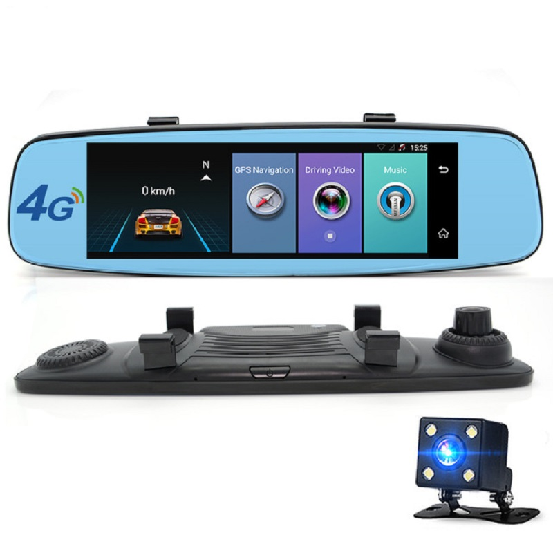 A880 4G Car DVR 7.86 Touch ADAS Remote Monitor Rear view mirror with DVR and camera Android Dual lens 1080P WIFI dashcam