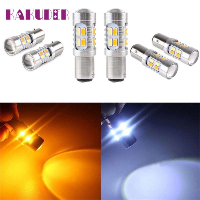 2017 car-styling LED 2X High Power 5730 Chip 3157 Dual Color Switchback SMD LED Tail BrakeLight Bulb may03