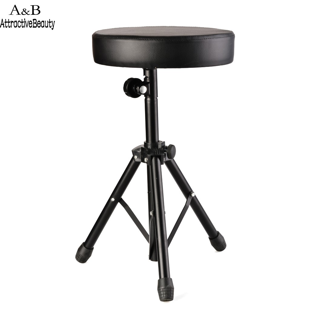 Black Soft Padded Seat Stool Stand Drummers Drumming