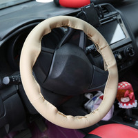 New 4 Color DIY Texture Soft Auto Car Steering Wheel Cover with Needles and Thread Artificial Leather Car Covers Hot Car-styling
