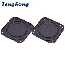 Tenghong 2 pcs 3 นิ้วลำโพงเสียงแบบพกพา 8Ohm 15 W Ultra Thin ซับวูฟเฟอร์ HIFI ลำโพงโฮมเธียเตอร์สเตอริโอ bass ลำโพง