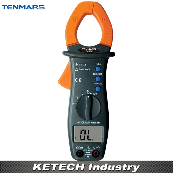 TENMARS TM16E 3 1/2digits 600A Autoranging AC Clamp Meter Tester tm 204 light meter with 3 1 2 digits lcd with maximum reading 2000
