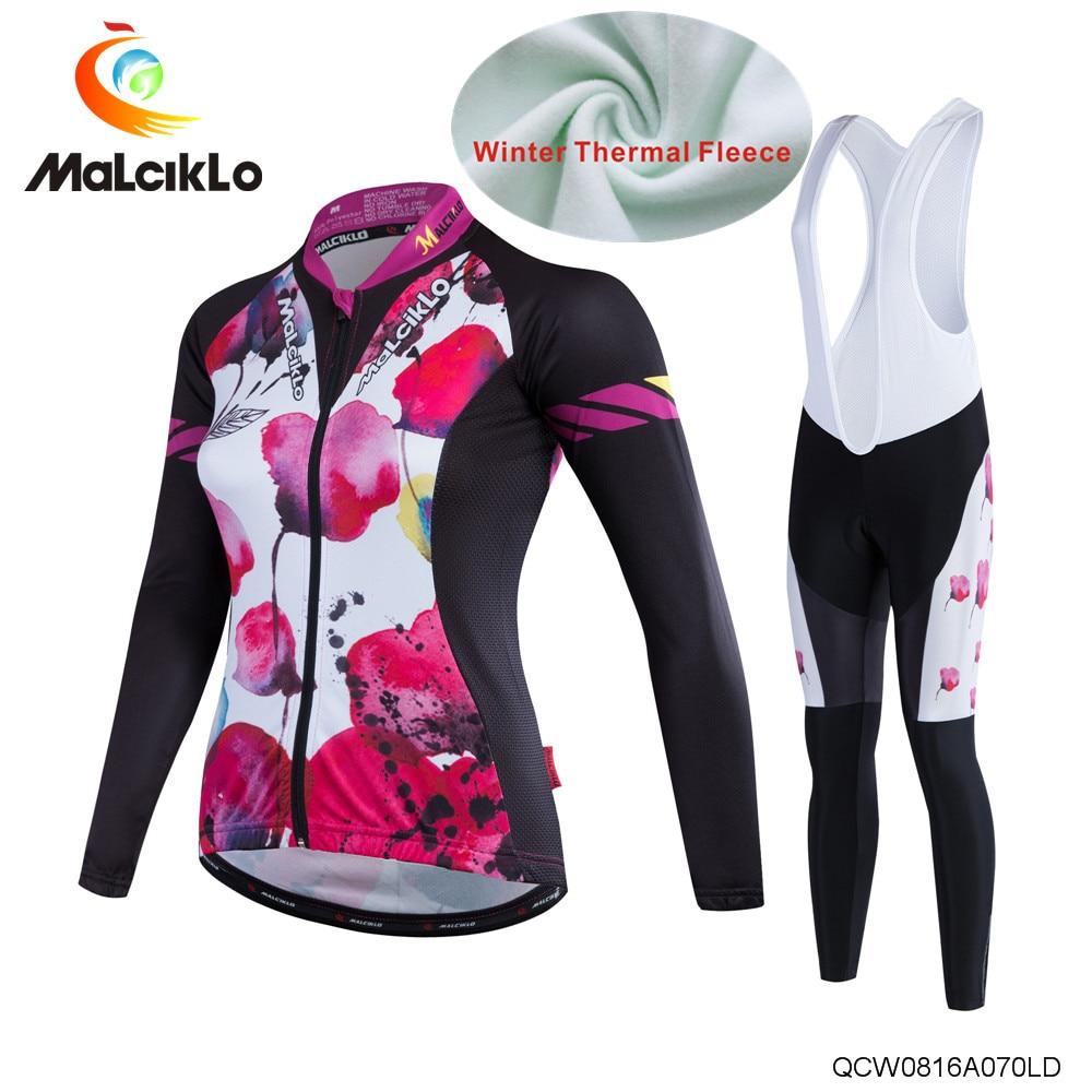 ФОТО New cycling clothing  long sleeve cycling jersey women fleece cycling jersey sets thermal   bike clothing Ropa Ciclismo