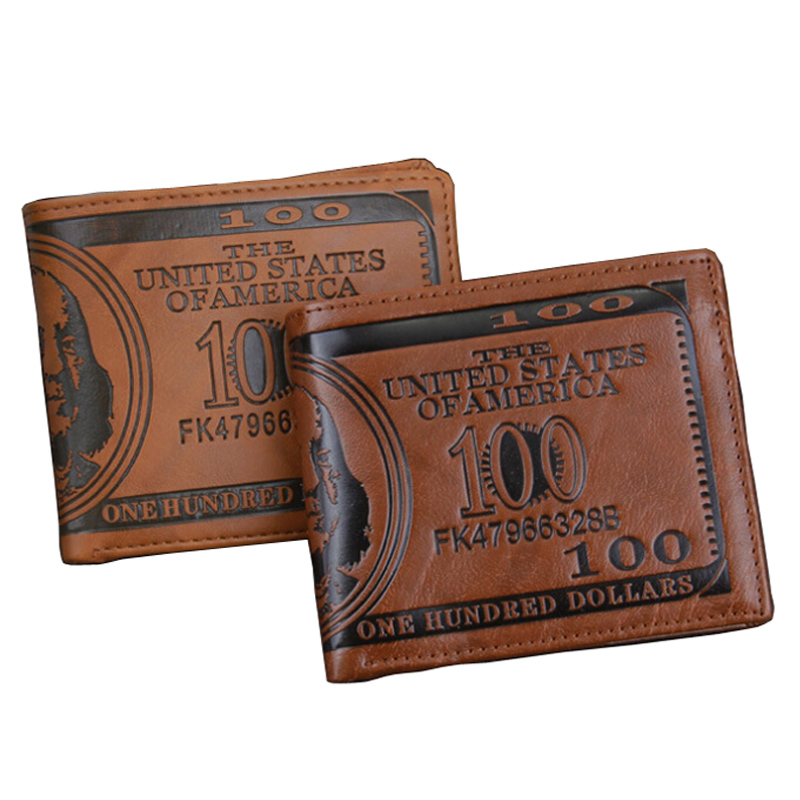2017 Fashion New Sale Men's Wallets Dollar Price Pattern Designer Casual Credit Card Holder Purse Wallet For Men #04