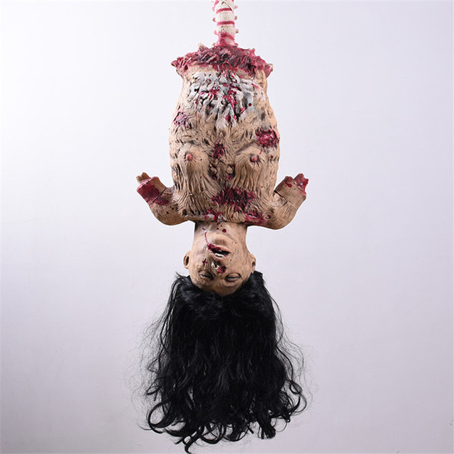 Horror Halloween Decorations Halloween Hanging Ghosts Half Female Corpse Divided Ghost Haunted House Escape Ktv Bar Scary Ghoul