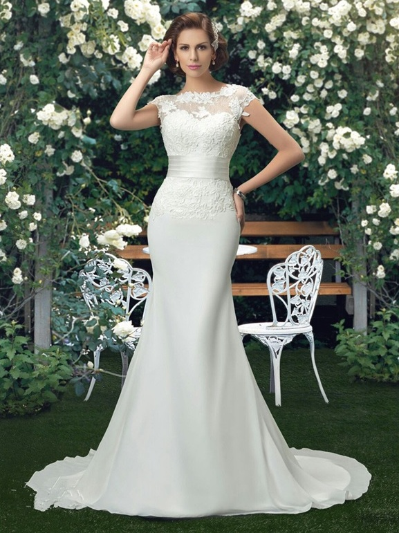 Vnaix W19301 Simple Chiffon Beach Wedding Dresses With Lace Appliques Summer Wedding Formal Gowns