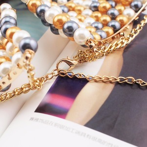 Image 5 - MANILAI Brand Imitation Pearl Statement Necklaces For Women Collar Beads Choker Necklace Wedding Dress Beaded Jewelry 2020