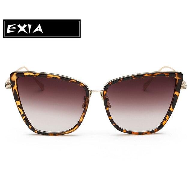 Leopard Sonnenbrille Frauen Gradient Farben Braun Linsen mit voller ...