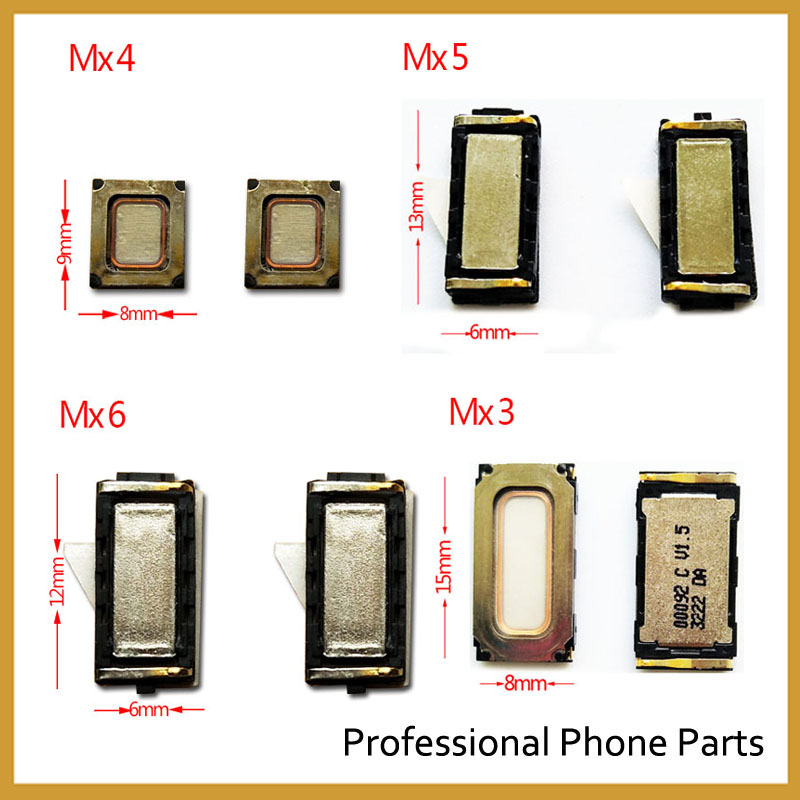 2Pcs/Lot, New Earpiece Ear Speaker For Meizu MX5 MX6 MX4 MX3 Pro5 Pro6 Meilan M1 M2 M3 M3s Meilan Note 2 M1 Note Parts