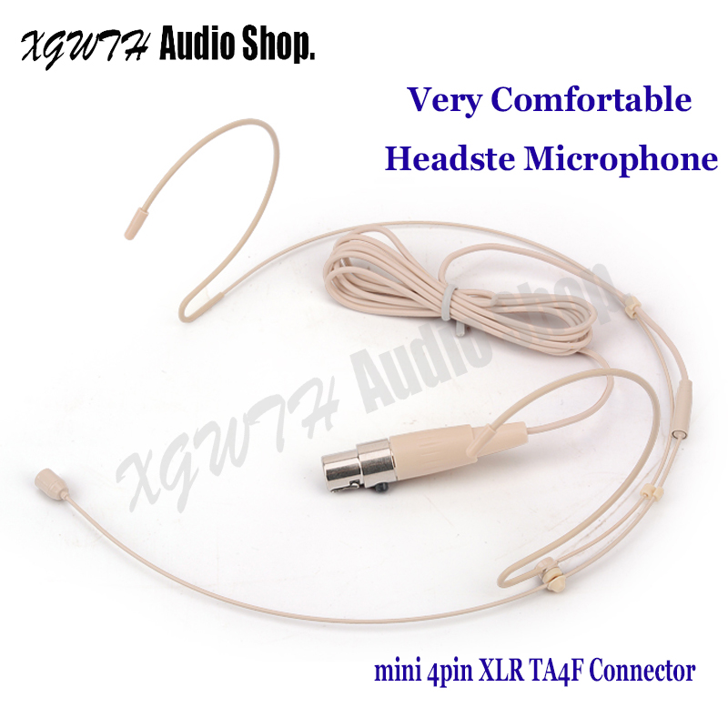 Live Equipment The Cheapest Price Skin Dual Earhook Condenser Cardioid Headset Microphone For Shure Wireless Body-pack Transmitter Mini 4pin Xlr Ta4f Connector Strengthening Sinews And Bones