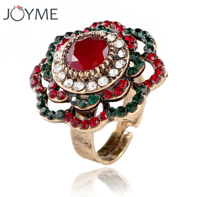 red il flower etsy rose adjustable market jewelry rings ring