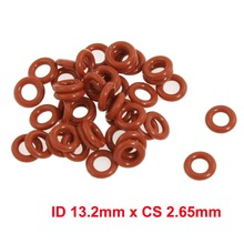 ID 13.2mm x CS 2.65mm silicon rubber sealing gasket o-ring red