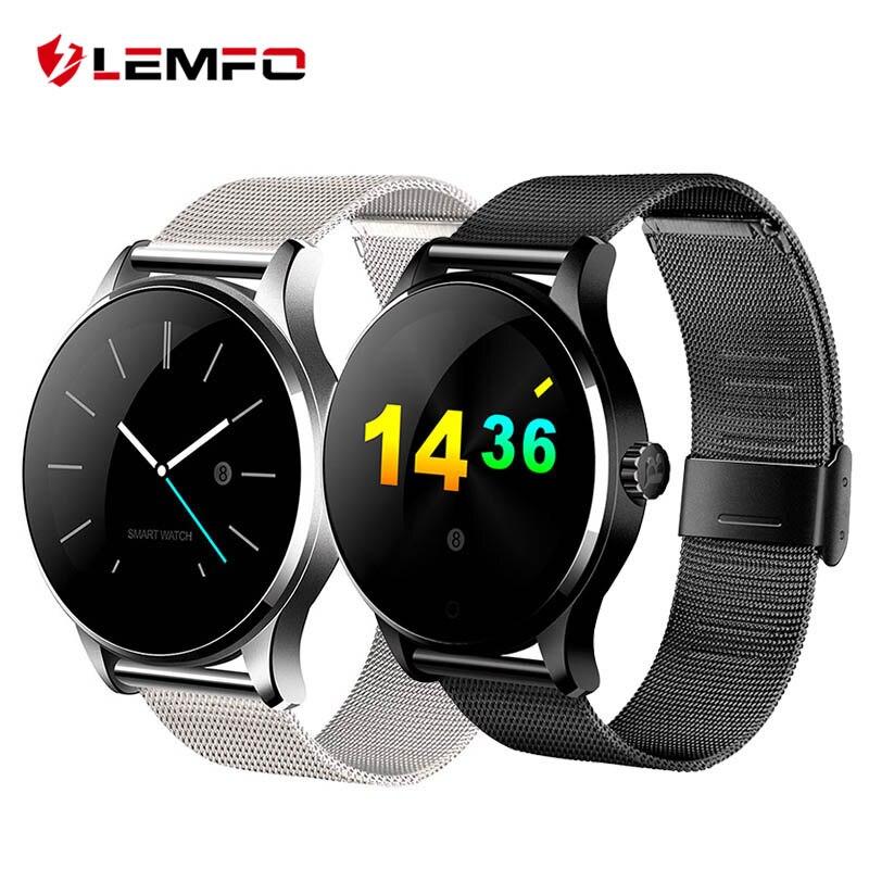 K88H Bluetooth Smart Watch MTK2502 Heart Rate Monitor Sync Phone Call Message Men Women Wrist Smartwatch