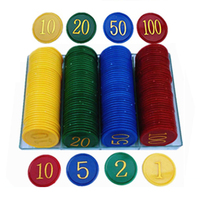 160pcs Plastic Poker Chip Tokens Plastic Coins Chip Coin Set Mahjong Poker Special Plastic Chips Free Shipping
