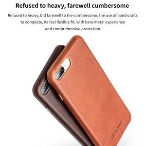 Image 3 - QIALINO biznes prawdziwej skóry tylna pokrywa dla iPhone 8 Plus Ultra cienki, czysty, ręcznie robiony futerał na telefon dla iPhone 8 dla 4.7/5.5 cal