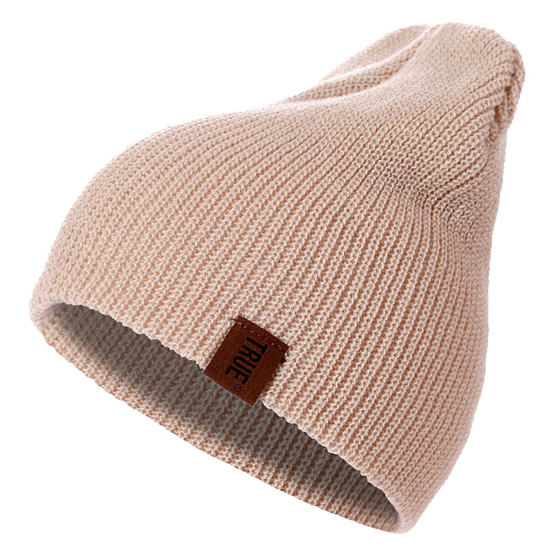 HTB13u1AXsrrK1Rjy1zeq6xalFXaf - 1 Pcs Hat PU Letter True Casual Beanies for Men Women Warm Knitted Winter Hat Fashion Solid Hip-hop Beanie Hat Unisex Cap