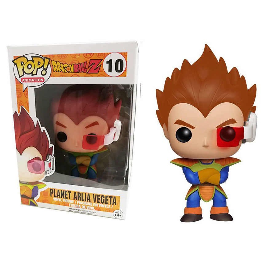 Funko Pop Dragon Ball Z Planet Arlia VEGETA #10 Exclusive Vinyl Figure Dolls Cartoon PVC Action Figures Toys Gifts for Kids