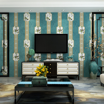 Popular 3D Chinese Modern Background Wallpaper 3D Luxury Chinese living room bedroom wallpaper Mural Wallpaper