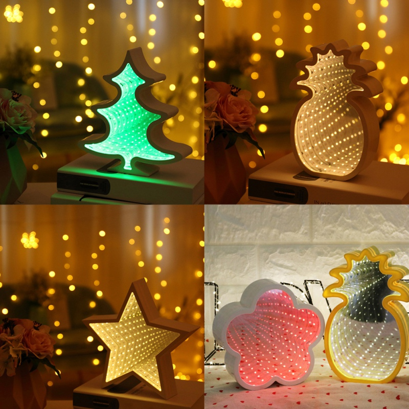 Various Shapes Cute LED lamp decorative lighting festival Christmas tree, star, cloud ni ...
