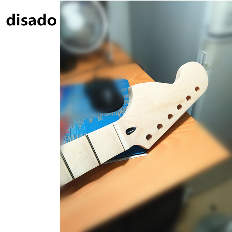 disado 22 Frets big reverse headstock maple Electric Guitar Neck maple scallop fretboard no paint guitar accessories parts disado 21 22 24 frets big headstock maple electric guitar neck maple scallop fretboard glossy paint guitar parts accessories