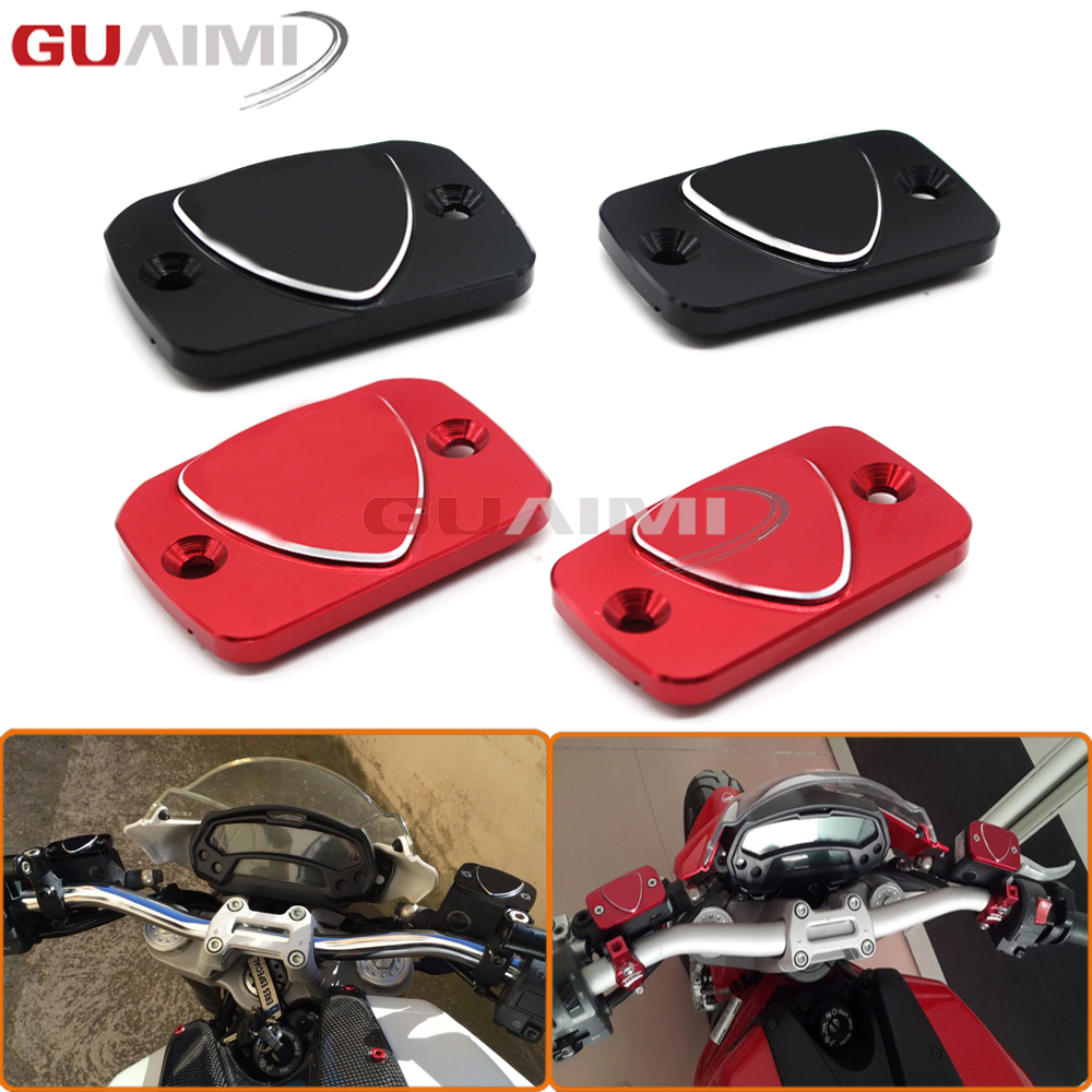 Motorcycle Accessories New Design 3D LOGO Brake Clutch Cylinder Reservoir Cover Cap For Ducati Monster 695 696 796 motorcycle rear side view mirrors a pair brand new high quality for ducati monster 695 696 796 black