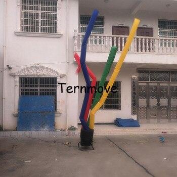 Colorful multi ballerino dell'aria gamba 4 gamba cielo ballerino gonfiabile danza tubo uomo una gamba aria danza burattino tubo uomo aria burattino